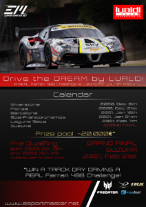 #drivethedream. Win a track day in real track with real Ferrari 488 Challenge by Lualdi Team.